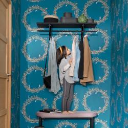 Papier peint Harmony bleu madura or - GREEN LIFE - Caselio - GNL101686029