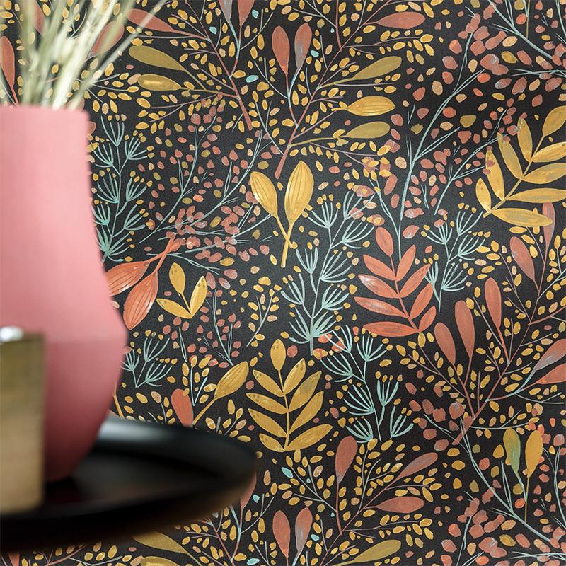 Papier peint Joy rose ocre noir or - GREEN LIFE - Caselio - GNL101694129
