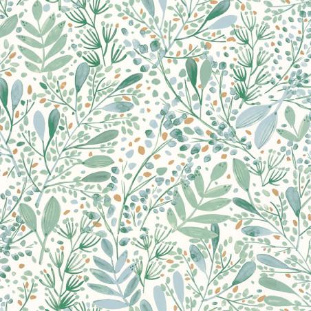 Papier peint Joy vert bleu gris or - GREEN LIFE - Caselio - GNL101697620