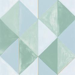Papier peint Plenitude vert bleu or - GREEN LIFE - Caselio - GNL101707024