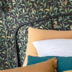 Papier peint Sweet vert or fond noir - GREEN LIFE - Caselio - GNL101717122