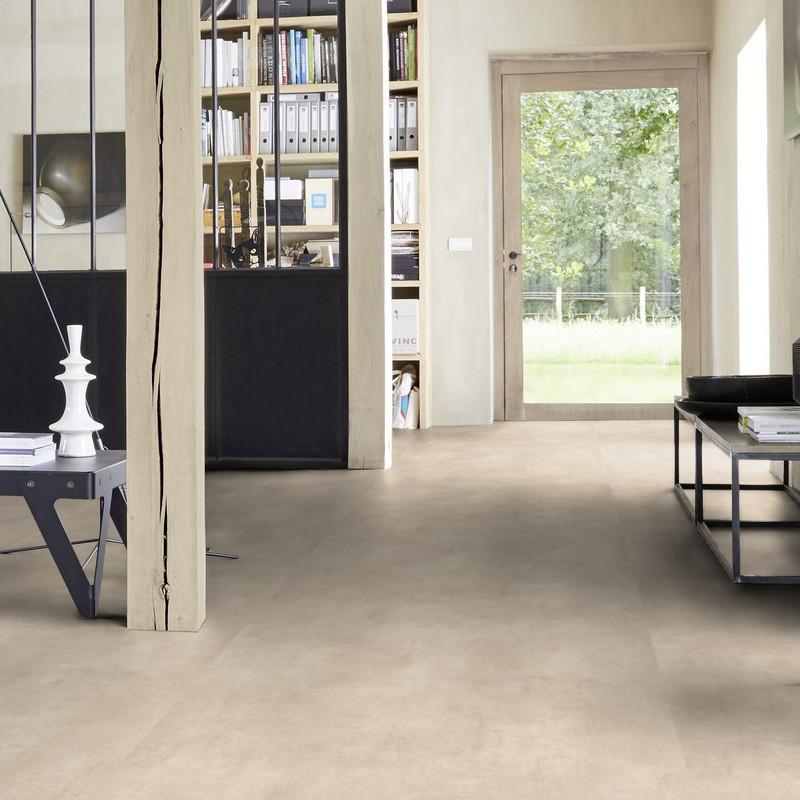 Sol PVC - Kiruma warm beige - Iconik LifeTex TARKETT- rouleau 4M