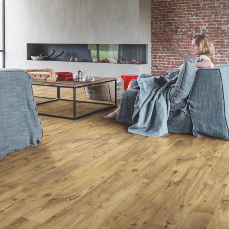 """Lame PVC clipsable """"Châtaignier vintage naturel BACL40029"""" - Livyn Balance Click QUICK STEP (résistant)"""