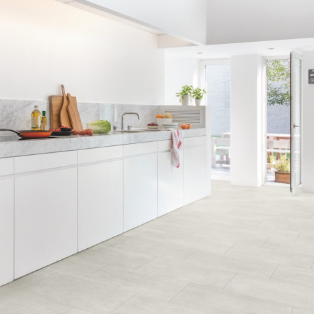 "Dalle PVC clipsable ""Béton clair RAMCL40049"" - Livyn Ambient Rigid Click QUICK STEP"