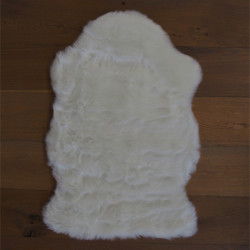 Tapis tout doux My Samba ivoire 55x85cm - forme peau de bête Obsession