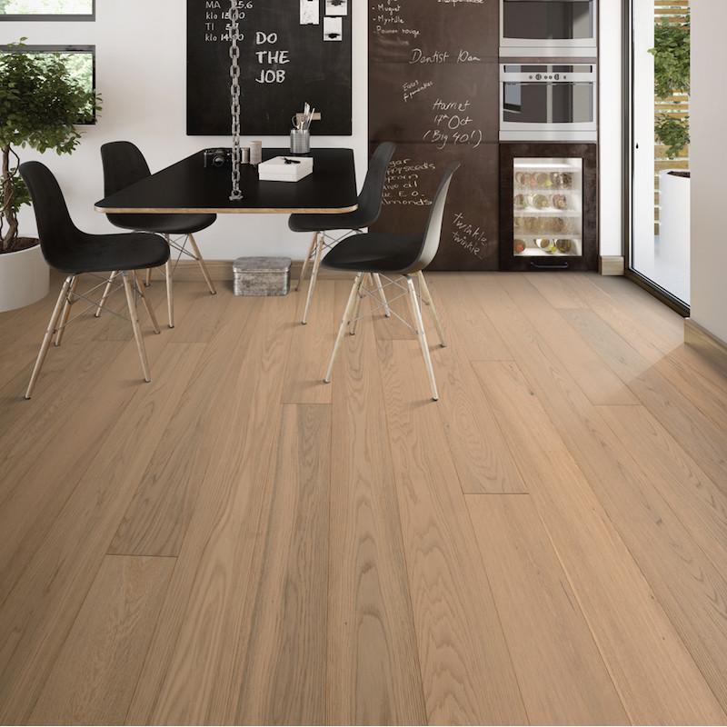 Parquet bois chêne rustique à clipser 013 - Matisse Natural White mat LAMETT