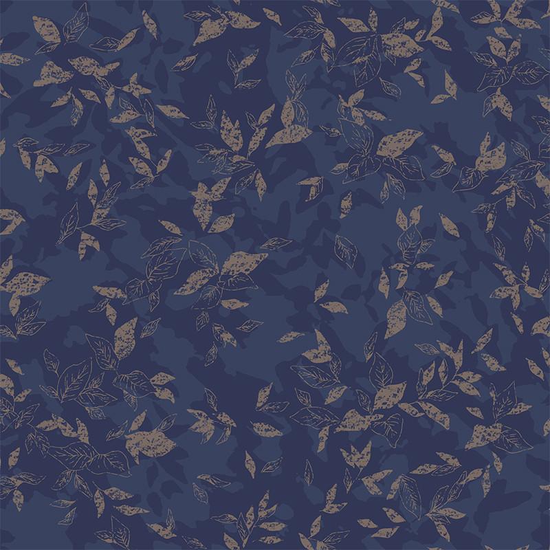Papier peint Gadagne bleu nuit - JARDINS SUSPENDUS - Casadeco - JDSP85206501