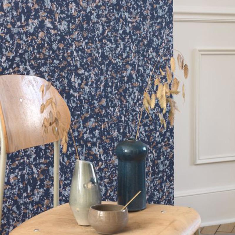 Papier peint Ecorce bleu - JARDINS SUSPENDUS - Casadeco - JDSP85226510