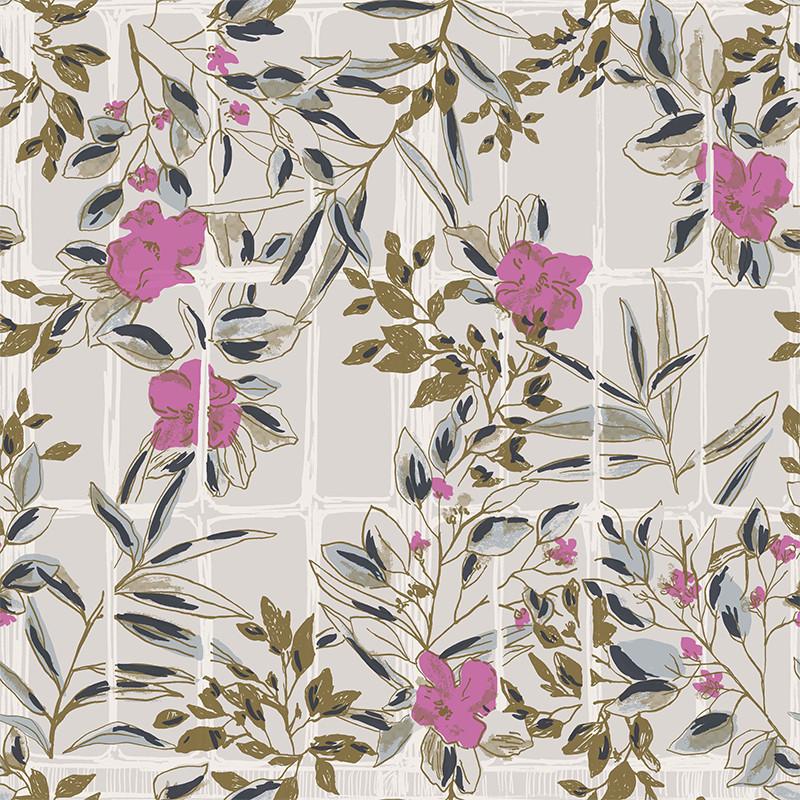 Papier peint Camelia rose - JARDINS SUSPENDUS - Casadeco - JDSP85234224