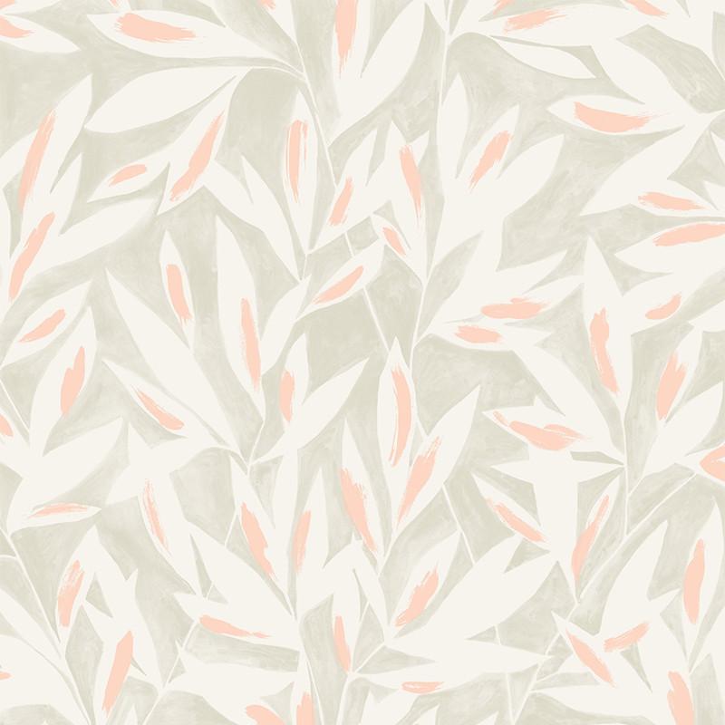 Papier peint Tamaris gris - JARDINS SUSPENDUS - Casadeco - JDSP85240155