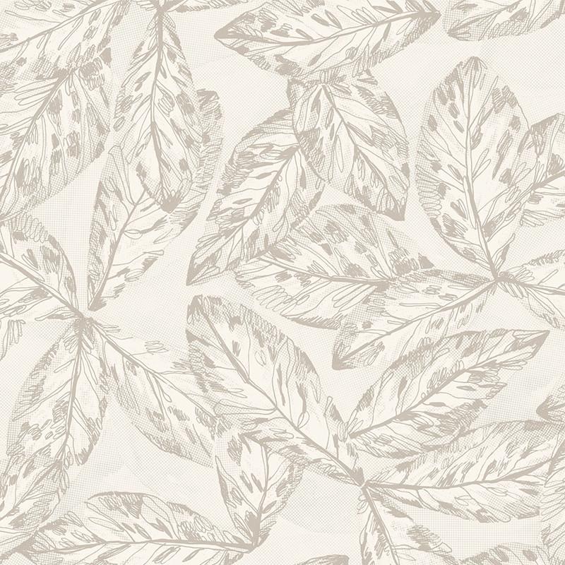 Papier peint Hevea taupe - JARDINS SUSPENDUS - Casadeco - JDSP85251102