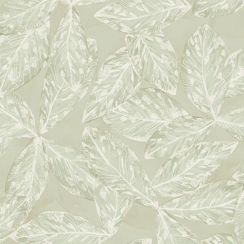 Papier peint Hevea vert argile - JARDINS SUSPENDUS - Casadeco - JDSP85257106
