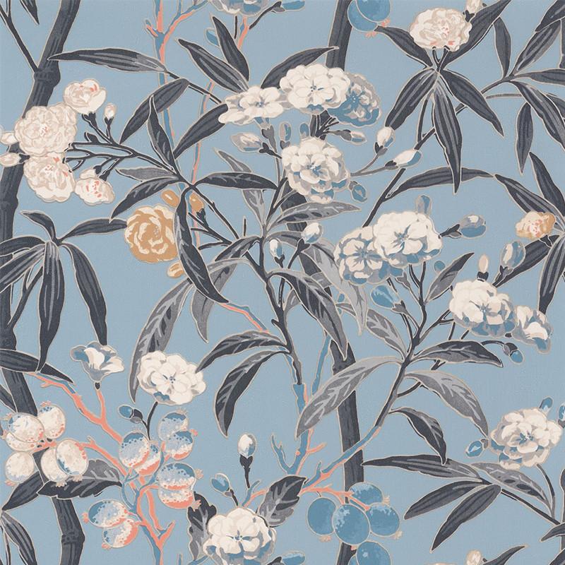 Papier peint Habana bleu clair - CUBA - Casadeco - CBBA84336226
