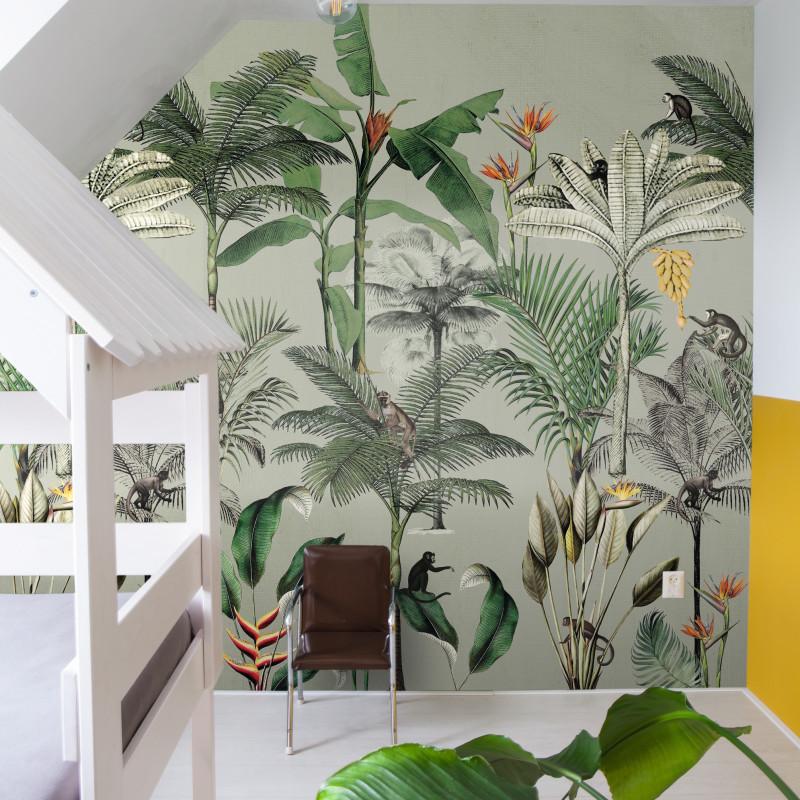 Panoramique Monkey Jungle Vert -CLUB BOTANIQUE- Rasch 539196