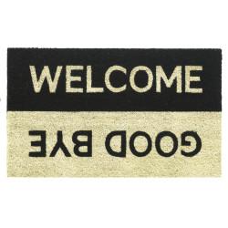 Paillasson naturel extérieur et intérieur RUCO PRINT welcome-goodbye - Hamat