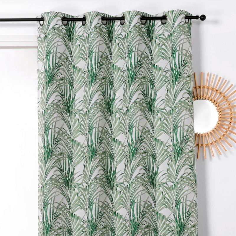 Rideau à œillets Tropico vert - Linder - 1901-85