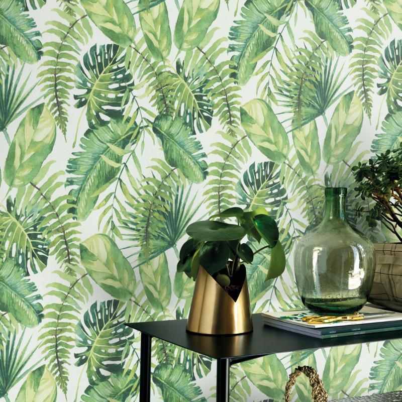 Papier peint Palmes Fever vert - Erismann - 10086-07