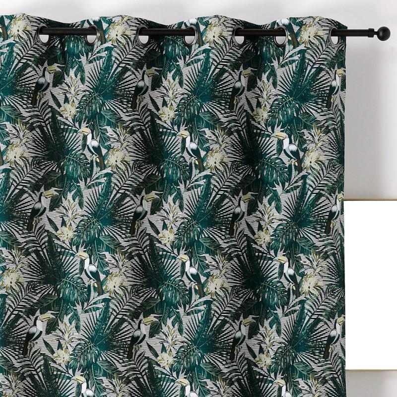 Rideau à œillets Toucan vert et noir - Linder - 0567-80