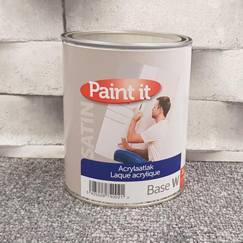 Laque intérieure spéciale bois - blanc satin - PAINT IT - 1L
