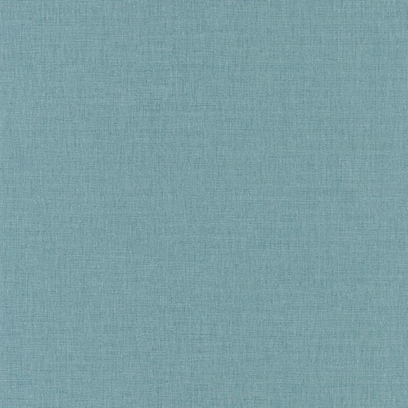 Papier peint Uni bleu gris moyen - LINEN - Caselio - LINN68526355