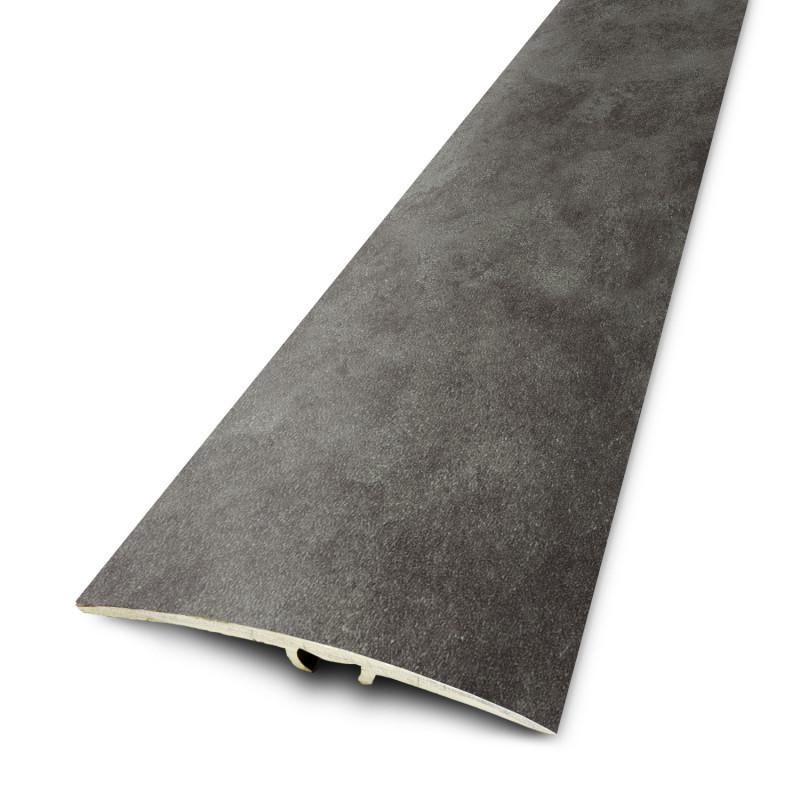 2,70mx41mm - Barre de seuil Finition minérale Ardoise Foncée - fixation invisible multi-niveaux plaxés Dinafix  - DINAC