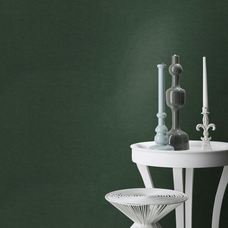 Papier peint Uni vert foncé - Rasch - 466140