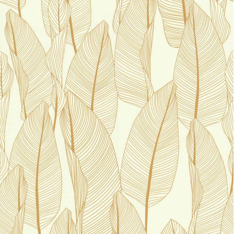 Papier peint Bananier jaune or - FRAGRANCE - Lutèce - 51184702
