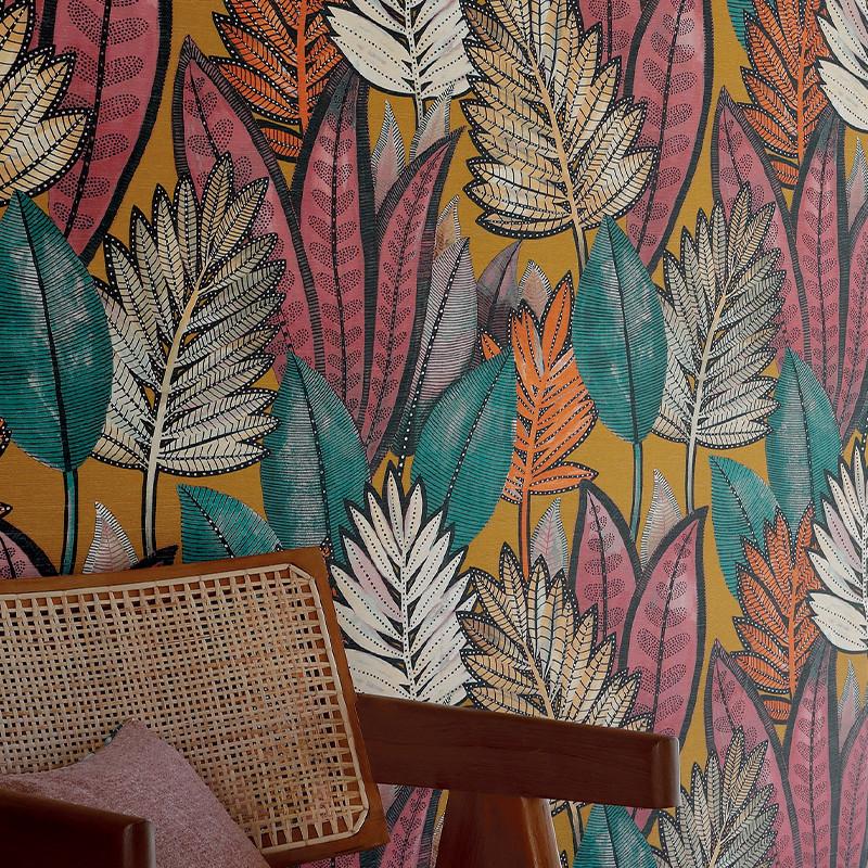 Papier peint Sabal safran - MANILLE - Casamance - 74680366