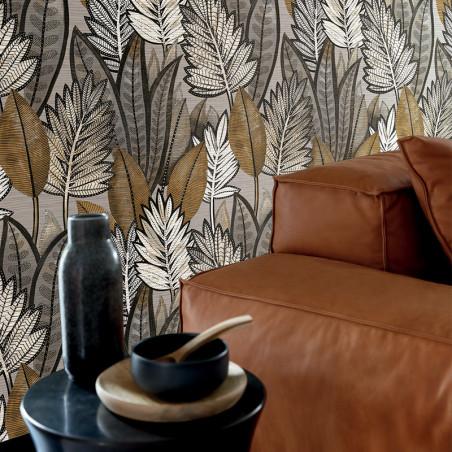 Papier peint Sabal taupe - MANILLE - Casamance - 74680162