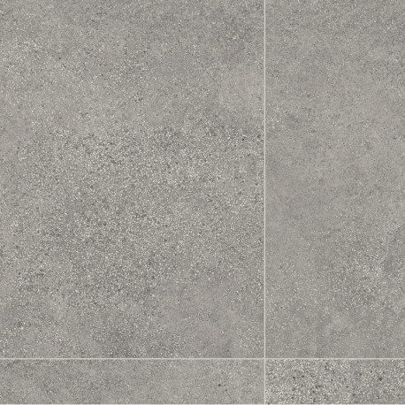 Sol PVC - Tempesta 596 carrelage béton gris - Texmark IVC - rouleau 4M