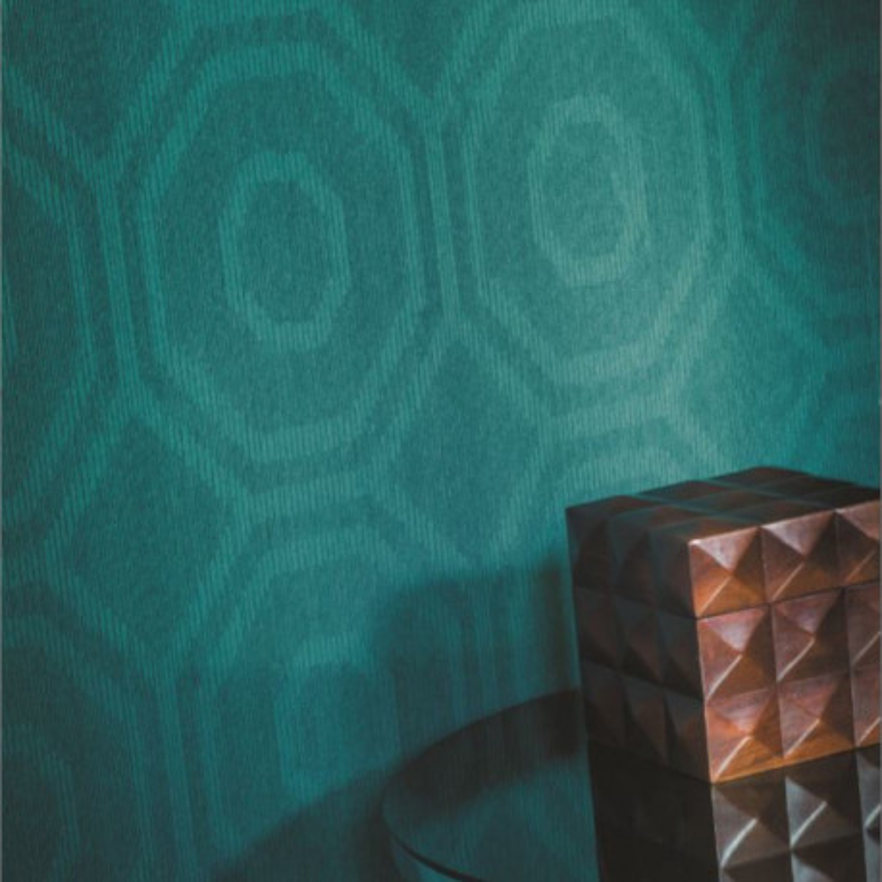 Papier peint Tangram bleu canard - ABSTRACT - Casamance - 72140353