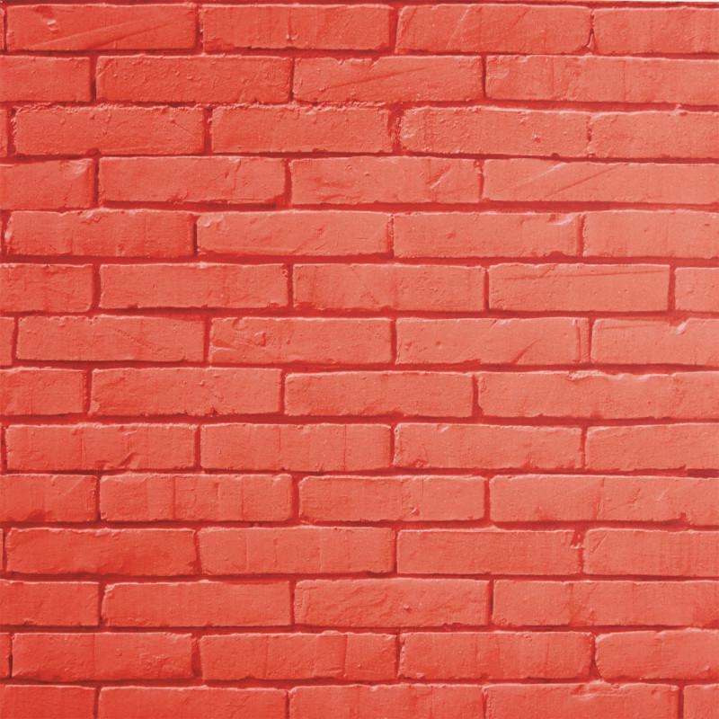 Papier peint Brick Wall rouge - LIFE - Caselio - LIF64458060