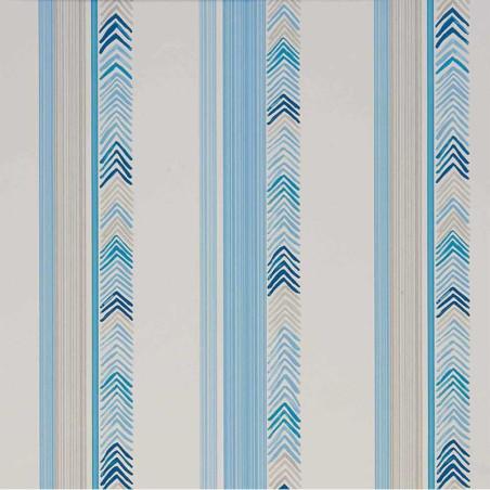 Papier Peint Chevrons bleu et gris - ABRACADABRA - Camengo - 9840370