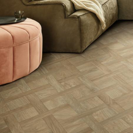 Sol PVC - Mocha 532 parquet diagonale clair - Ultimate Wood IVC - rouleau 4M