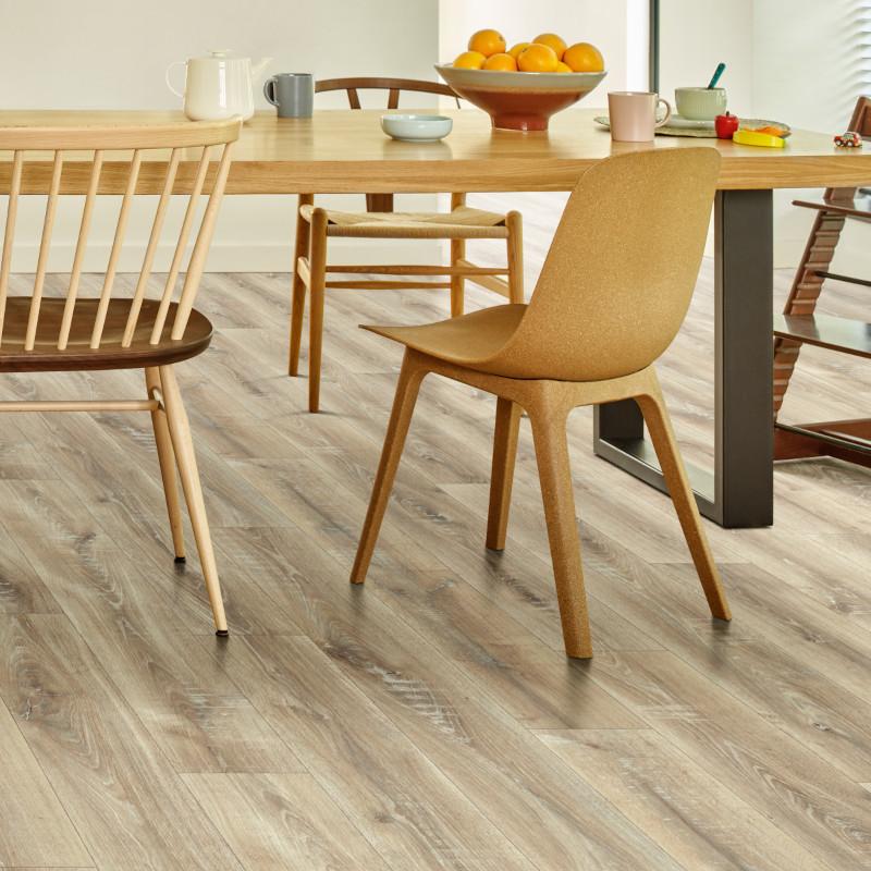 Sol PVC - Siberia 533 parquet bois clair - Texas New IVC - rouleau 3M