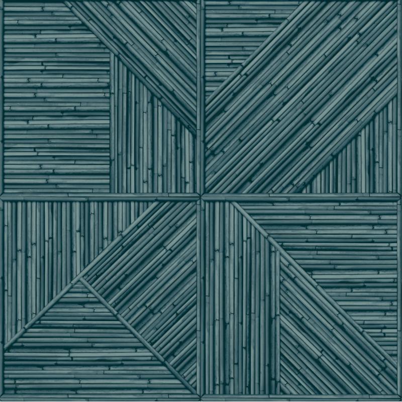 Papier peint Paglia bleu - JUNGLE FEVER - Grandeco Life - JF2402