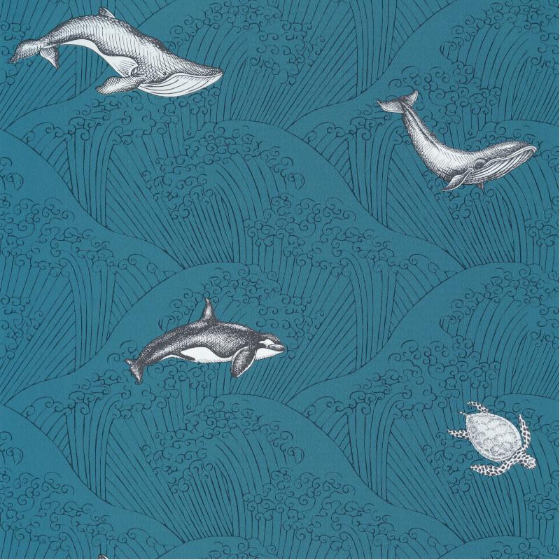 Papier peint Under The Sea bleu mer - OUR PLANET - Caselio - OUP102016608