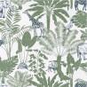 Papier peint à motif JUNGLE TRIP vert kaki et bleu nuit OUP101957403 - OUR PLANET - Caselio
