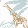 Papier peint à motif JUNGLE TRIP vert d'eau et ocre OUP101957121 - OUR PLANET - Caselio