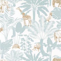 Papier peint Jungle Trip vert d'eau et ocre - OUR PLANET - Caselio - OUP101957121