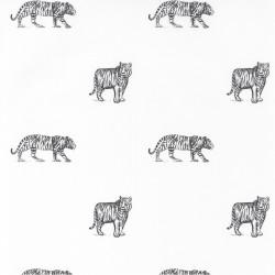 Papier peint Eyes of The Tiger noir et blanc - OUR PLANET - Caselio - OUP101969916