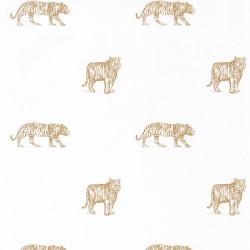 Papier peint Eyes Of The Tiger blanc et ocre - OUR PLANET - Caselio - OUP101962105