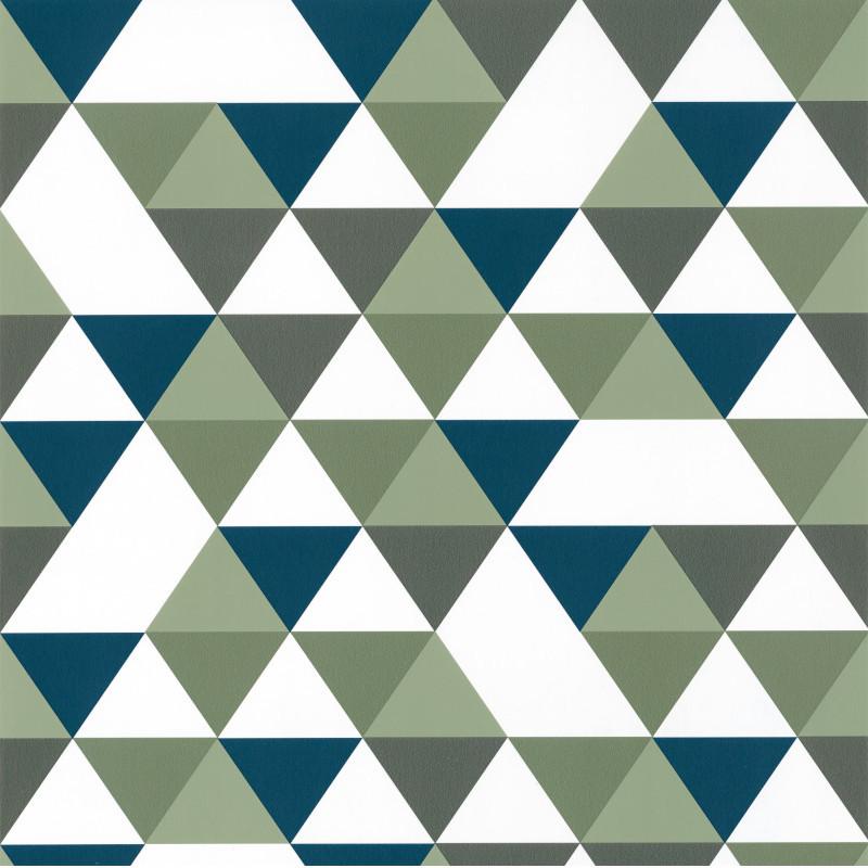 Papier peint Diamond Planet vert kaki et bleu - OUR PLANET - Caselio - OUP102007432