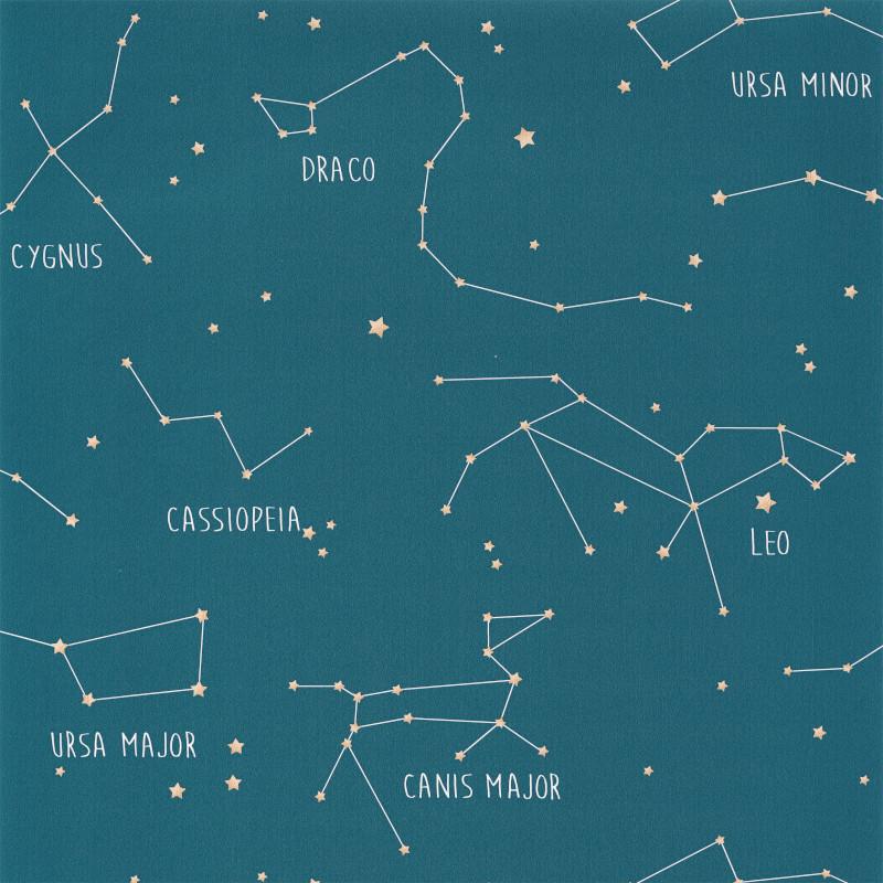 Papier peint Constellations bleu mer - OUR PLANET - Caselio - OUP101916003