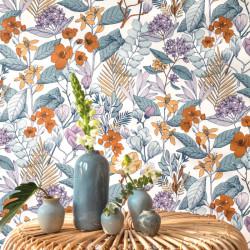 Papier peint May parme - FLOWER POWER - Caselio - FLP101855060