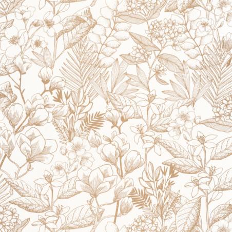 Papier peint May doré - FLOWER POWER - Caselio - FLP101852010