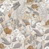 Papier peint à motif MAY beige gris FLP101851099 - FLOWER POWER - CASELIO