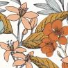 Papier peint à motif MAY vert d'eau ocre et rose FLP101857241 - FLOWER POWER - CASELIO