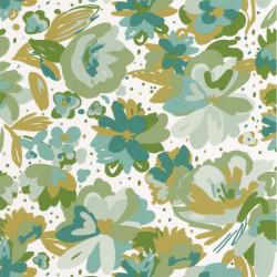 Papier peint July vert émeraude - FLOWER POWER - Caselio - FLP101877175
