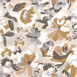 Papier peint July beige gris - FLOWER POWER - Caselio - FLP101871090
